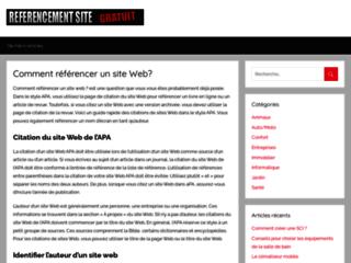 Détails : référencement site