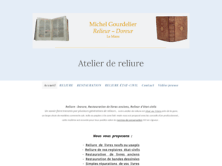 Détails : Relieur d'art, Michel Gourdelier