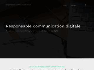 Détails : Responsable communication web