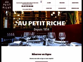Au Petit Riche, restauration traditionnelle à Paris 9