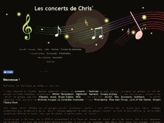 Les reviews de concerts de Chris