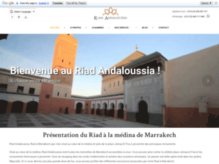 Détails : Riad Andaloussia à Marrakech au Maroc
