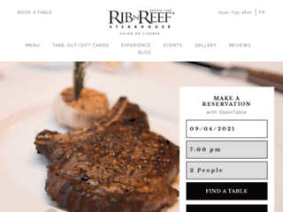 Détails : Rib'N Reef : Steak house restaurant à Montréal