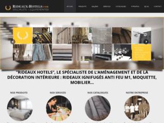 Détails : Rideaux-hotels : rideaux non feu, occultant, voilages M1
