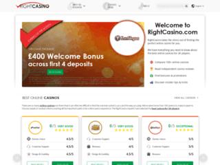 Guide des casinos en ligne français RightCasino.com