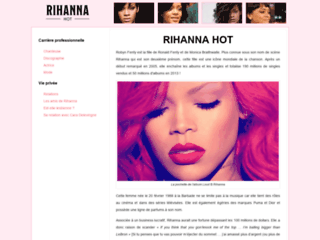 Détails : Actualités et biographie de Rihanna