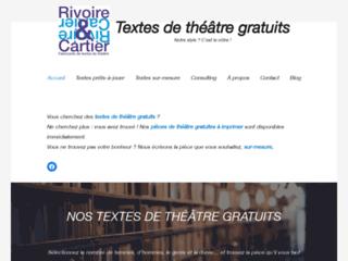 Rivoire & Cartier pièces de théâtre