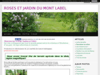Roses et jardin du Mont Label