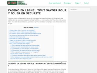 Détails : Le site Roulette Française