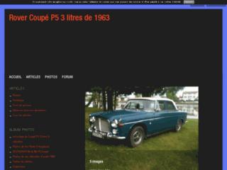 Rover P5 coupé 3 litres 1963