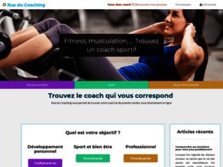Rue du Coaching, la plateforme pour trouver et réserver un coach à domicile