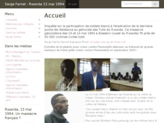 Détails : Rwanda, 13 mai 1994. Un massacre français ?