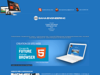 Détails : Saha-Engineering : Création site internet, Hébergement à Madagascar