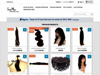 Détails : Vente de tissage brésilien - Satishair - 100% human hair