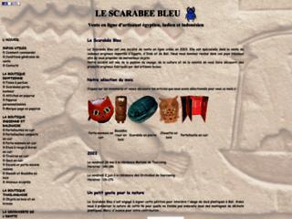 Détails : Le Scarabée Bleu - Artisanat égyptien, indien, indonésien