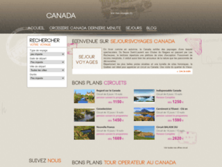Détails : Voyages au Canada
