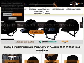 Détails : Boutique d'équitation en ligne