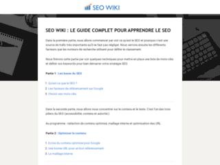 SEO WIKI, guide en ligne pour apprendre  facilement le SEO