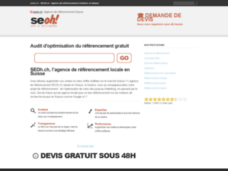 Referencement avec SEOh.ch