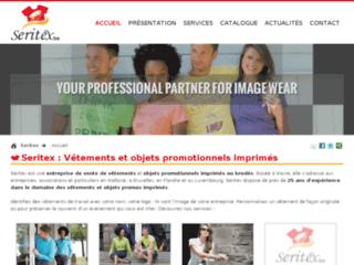 Seritex, vente de vêtements, textiles et bagagerie avec votre logo