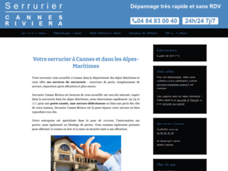 Site officiel Serrurier Cannes Riviera