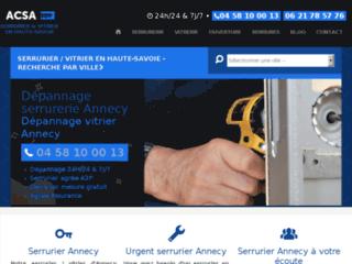 ACSA Serrurerie : dépannage en urgence serrurier Annecy