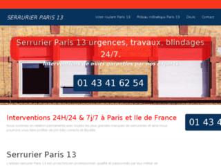 Détails : Serrurier Paris 13