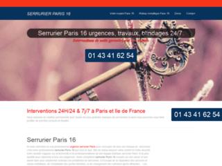 Détails : Serrurier Paris 16
