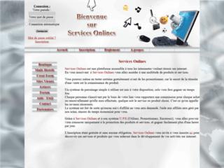 Détails : Produits et services pour webmasters
