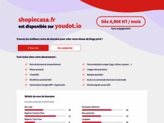 Détails : shopincasa : boutique maison et bien-être