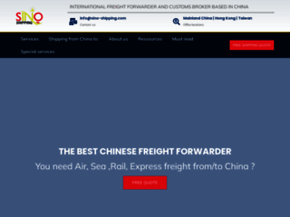 Sino Shipping, spécialiste de la logistique internationale