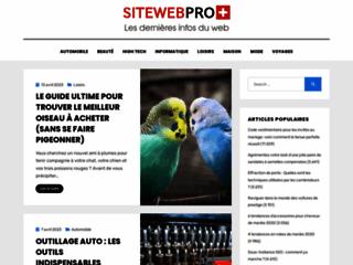 Robe de soirée sur sitewebpro