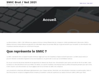 SMIC Brut/Net 2021, un site d'actualités sur le SMIC en 2021