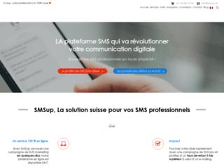 Smsup, plateforme d'envoi de sms professionnel