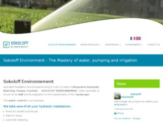 Détails : Sokoloff environnement : Pompes, arrosage automatique