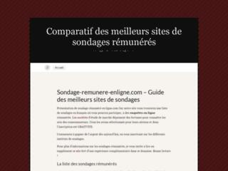 Détails : sondage rémunéré en ligne et bon plan du net