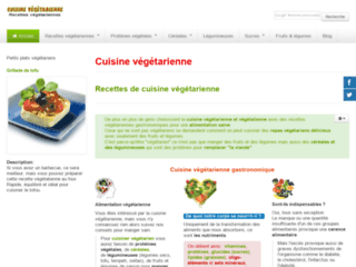 Détails : Cuisine et recettes végétariennes gastronomiques