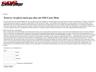 SosCasseMoto.fr : Vos pièces moto au meilleur prix !