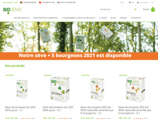 Détails : Sosève - vente en ligne de sève de bouleau artisanale et 100% pure