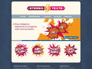 Détails : Stereotexte – agence de communication franco-allemande