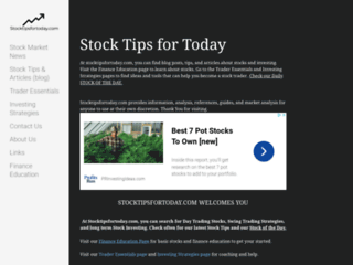 Website's thumnail : stock tips for today