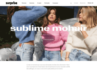 Détails : SURPRISE Paris, vente de vêtements pour homme