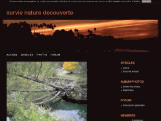Survie nature decouverte