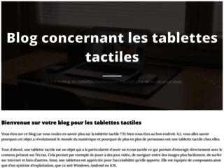 Détails : Tablette tactile