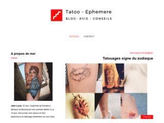 Détails : tatouage éphémère
