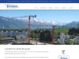 Détails : Engins de chantier et grues: société Technogrues