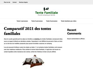 Site comparatif des tentes familiales