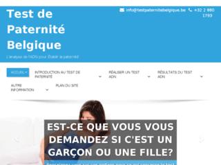 Détails : Test de paternité – Belgique