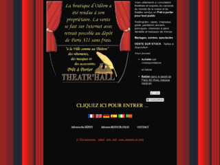 Détails : Theatr'Hall Paris : vêtements d'époque, chemise jabot théâtre