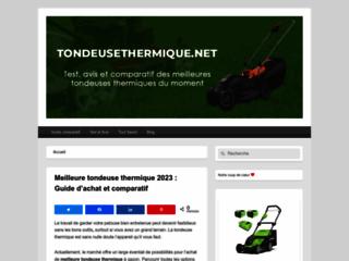Détails : Meilleure tondeuse thermique en 2021 :Guide comparatif